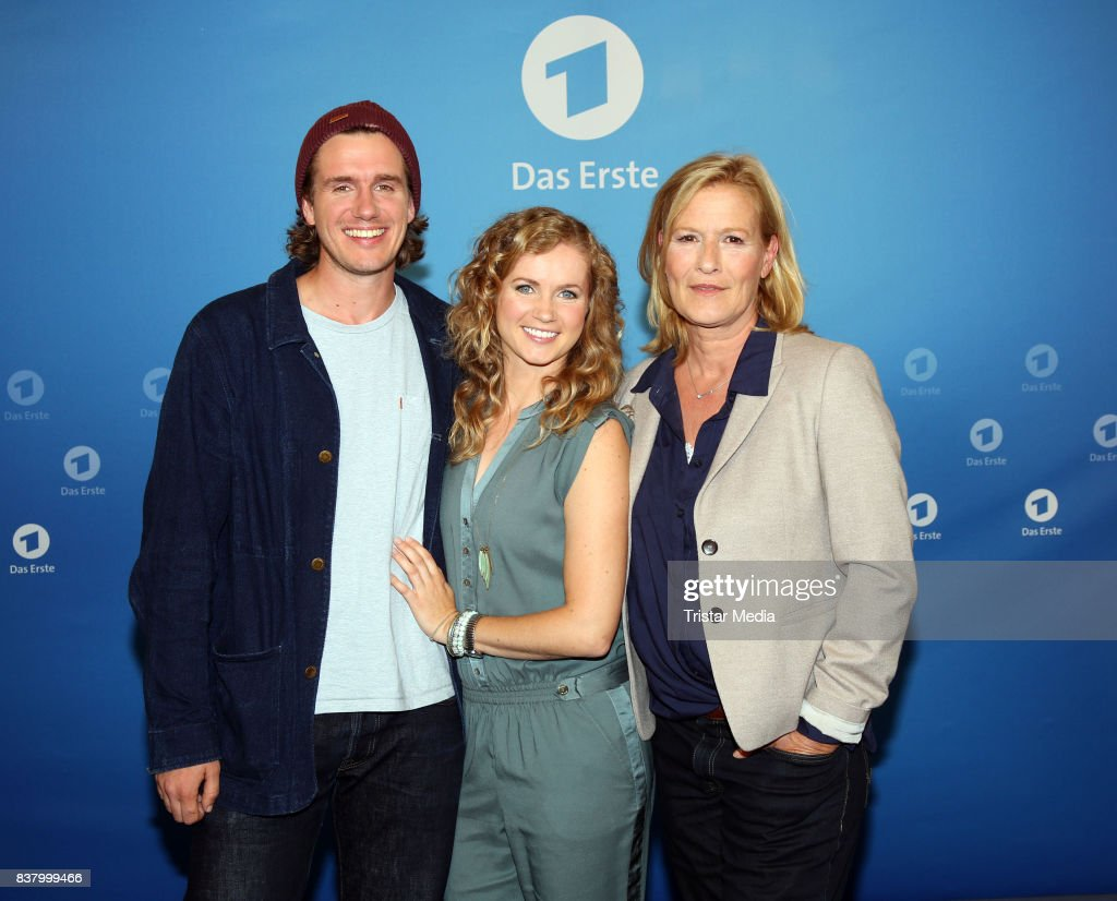 Max Bretschneider, Cornelia Groeschel and Suzanne von Borsody during the 'Die letzte Reise' Photo Call at Hotel Atlantic Kempinski on August 23, 2017 in Hamburg, Germany.