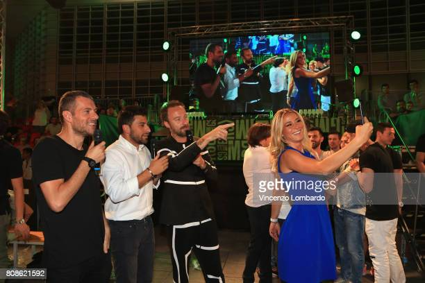 Max Brigante Roberto Marchesi Diletta Leotta and Francesco Facchinetti attend Bikkembergs European Futsal Tournament on July 4 2017 in Milan Italy