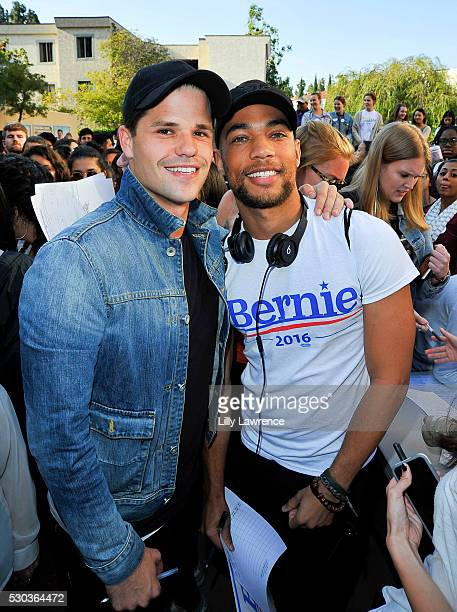 Max Carver and Kendrick Sampson attend Stars Rock The Campus 4 BERNIE on May 10 2016 in Los Angeles California