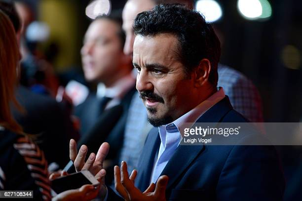 Max Casella arrives at the 'Jackie' Washington DC Premiere at The Newseum on December 1 2016 in Washington DC