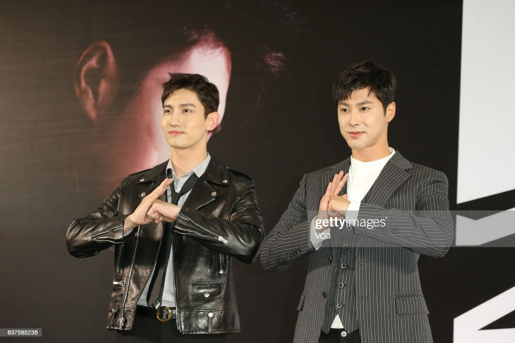 TVXQ Hold Press Conference In Hong Kong
