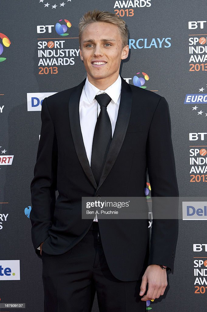 Max Chilton attends the BT Sports Industry awards at Battersea Evolution on May 2, 2013 in London, England.