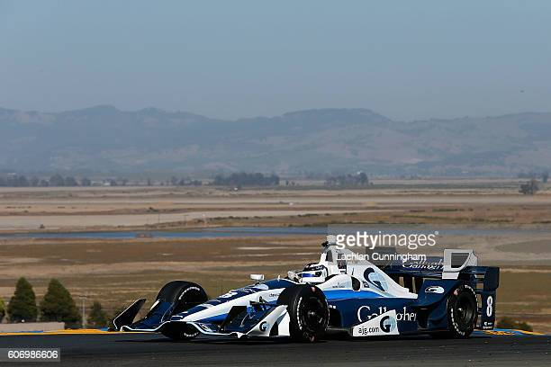 Max Chilton of England driver of the Gallagher Chip Ganassi Racing Chevrolet drives during practice for the GoPro Grand Prix of Sonoma at Sonoma...