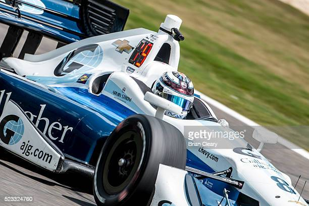 Max Chilton of England drives the Chevrolet IndyCar on the track during practice for the Honda Indy Grand Prix of Alabama at Barber Motorsports Park...