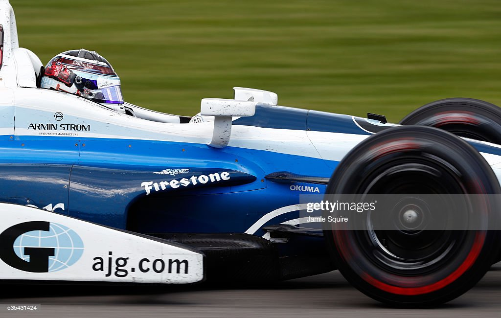 <a gi-track='captionPersonalityLinkClicked' href=/galleries/search?phrase=Max+Chilton&family=editorial&specificpeople=8640117 ng-click='$event.stopPropagation()'>Max Chilton</a> of Great Britain, driver of the #8 Chip Ganassi Racing Chevrolet Dallara, in action during the 100th running of the Indianapolis 500 at Indianapolis Motorspeedway on May 29, 2016 in Indianapolis, Indiana.