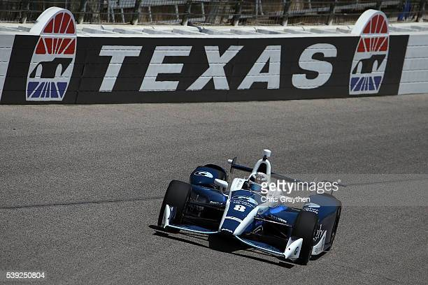 Max Chilton of Great Britian driver of the Gallagher Chip Ganassi Racing Chevrolet practices for the Verizon IndyCar Series Firestone 600 at Texas...