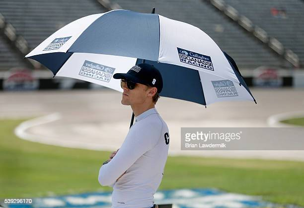 Max Chilton of Great Britian driver of the Gallagher Chip Ganassi Racing Chevrolet looks on during StarTelegram Qualifying for the Verizon IndyCar...
