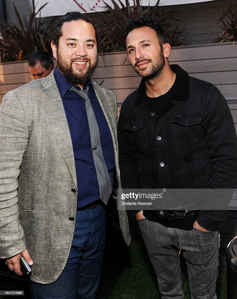 Max Chow and Josh Gold attend TOMS And Haitian Activist Bryn Mooser Host A Private Event To Celebrate Haitian Culture at TOMS Flagship Store on March 26, 2013 in Venice, California.