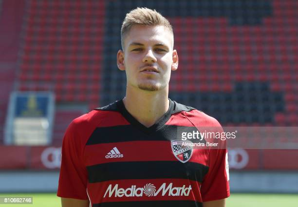 Max Christiansen of FC Ingolstadt poses during the team presentation at Audi Sportpark stadium on July 8 2017 in Ingolstadt Germany