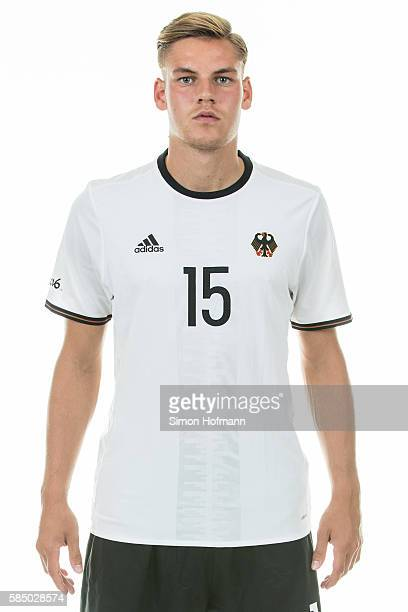 Max Christiansen poses during the German Olympic Football Team Photocall on July 30 2016 in NeuIsenburg Germany