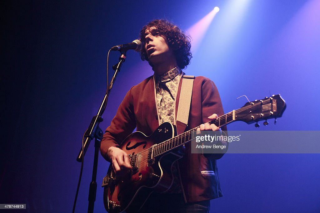 Max Claps of The Proper Ornaments perform on stage at Ritz Manchester on March 14, 2014 in Manchester, United Kingdom.