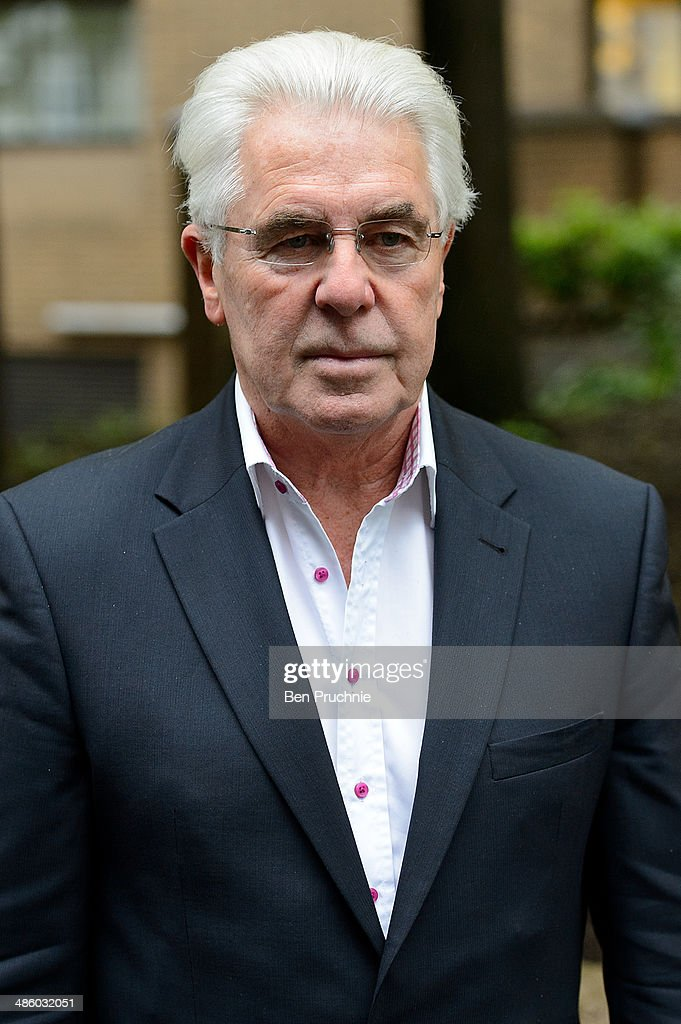 Max Clifford arrives at court where he faces sexual assault charges at Southwark Crown Court on April 22 2014 in London England
