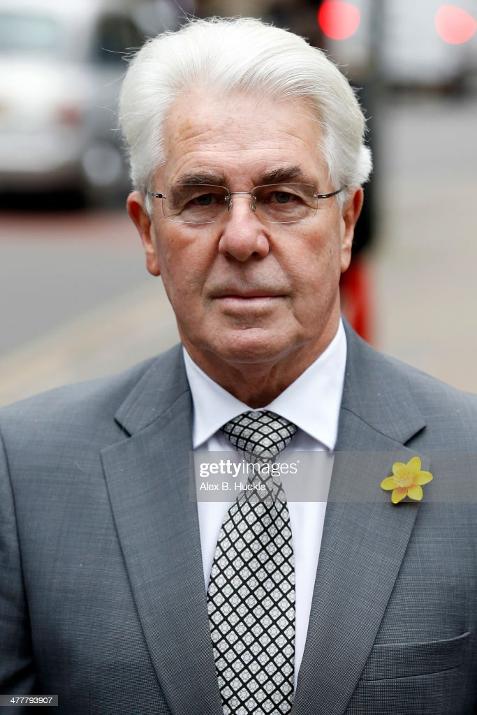 Max Clifford arrives at Southwark Crown Court on March 11 2014 in London England