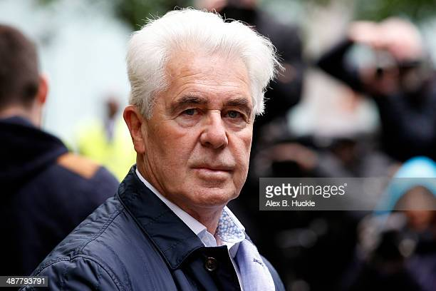 Max Clifford arrives at Southwark Crown Court to face sentencing after conviction of eight indecent assaults May 2 2014 in London England