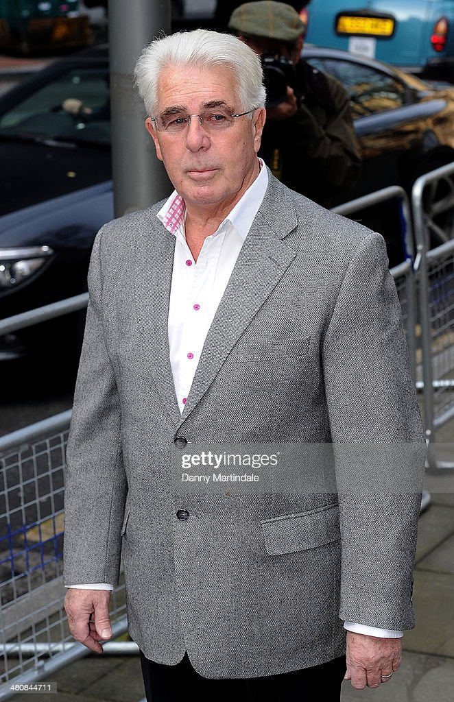 Max Clifford arrives Southwark Crown Court on March 27, 2014 in London, England. Mr Clifford, a public relations expert, has pleaded not guilty to 11 charges of indecent assault.