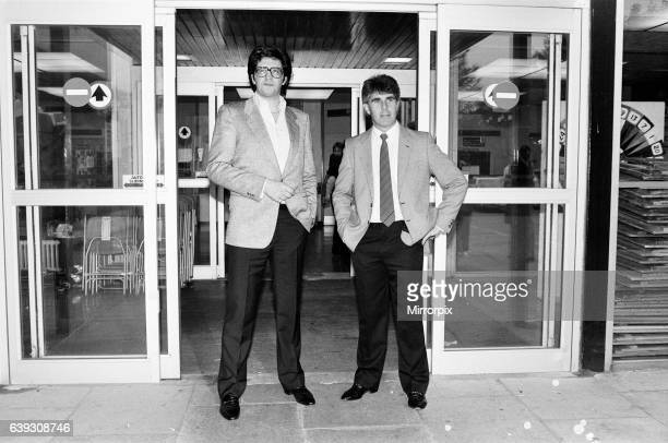 Max Clifford Publicist with Carlo Spetale manager of snooker player Kirk Stevens 7th June 1986