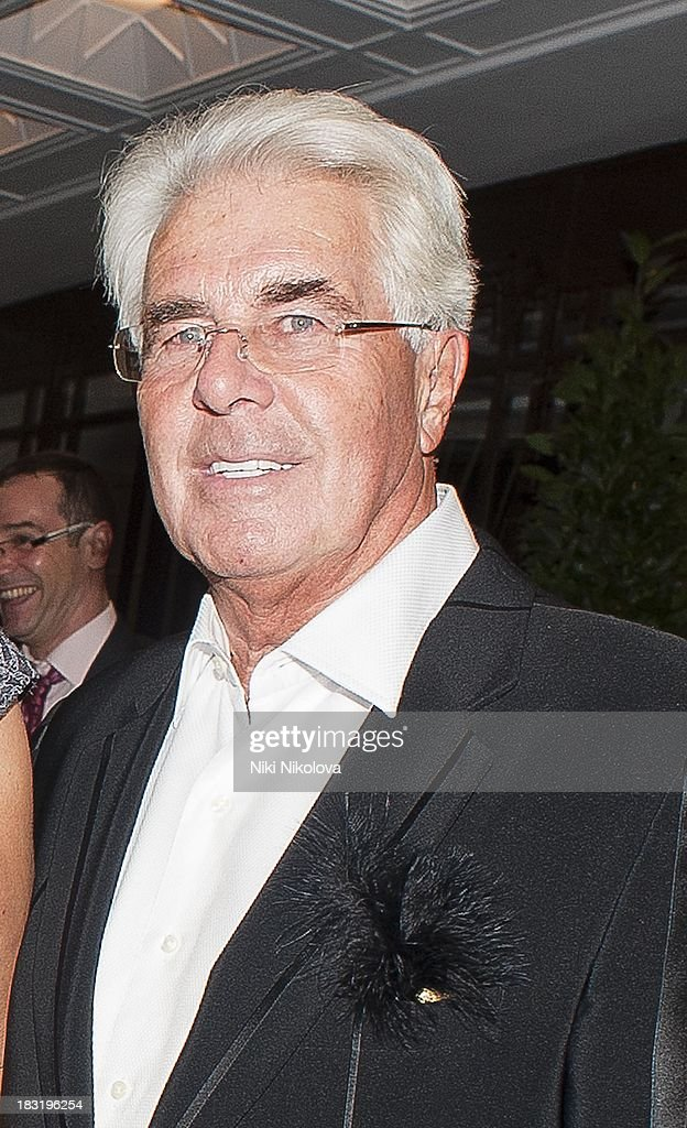 <a gi-track='captionPersonalityLinkClicked' href=/galleries/search?phrase=Max+Clifford&family=editorial&specificpeople=753579 ng-click='$event.stopPropagation()'>Max Clifford</a> sighted leaving the Dorchester Hotel, Park Lane on October 5, 2013 in London, England.