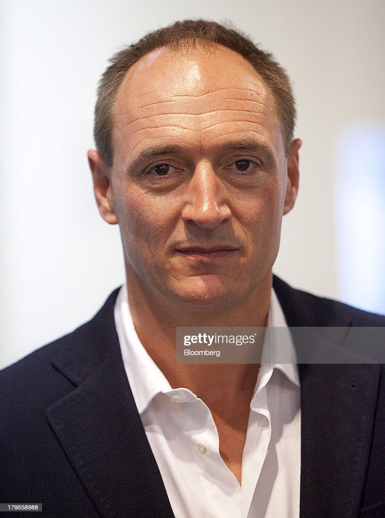 Max Conze, the chief executive officer of Dyson Ltd., poses for a photograph following a Bloomberg Television interview on the eve of the opening of the IFA consumer electronics show in Berlin, Germany, on Thursday, Sept. 5, 2013. Samsung showed the Galaxy Gear yesterday at IFA, Europe's largest consumer-electronics show, as it races Apple and Sony Corp. to carve a share of the market for wearable technology amid slowing growth in smartphones. Photographer: Krisztian Bocsi/Bloomberg via Getty Images