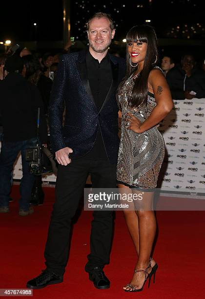 Max Cooper and Eve attends the MOBO Awards at SSE Arena on October 22 2014 in London England