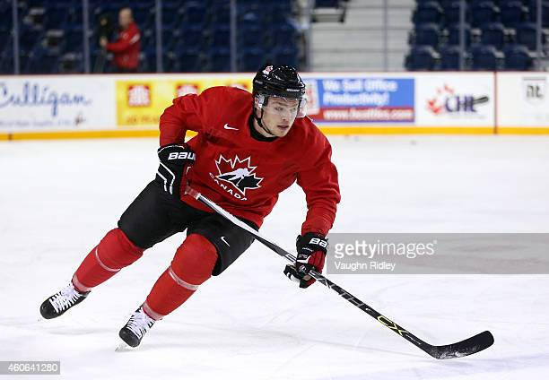 Max Domi skates during the Canada National Junior Team practice at the Meridian Centre on December 18 2014 in St Catharines Ontario Canada