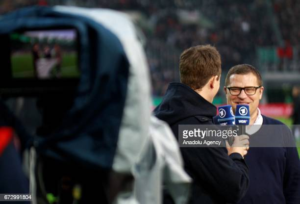 Max Eberl of Borussia Monchengladbach is seen before the DFB Cup semifinal soccer match between Borussia Monchengladbach and Eintracht Frankfurt at...