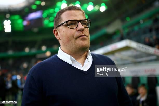 Max Eberl sport director of Moenchengladbach looks on before the DFB Cup semi final match between Borussia Moenchengladbach and Eintracht Frankfurt...