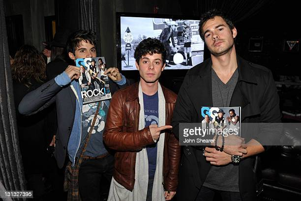 Max Ehrich Paul Iacono and Jayson Blair attend Cool Beats High Style // Guess GQ at The Sayers Club on November 3 2011 in Hollywood California