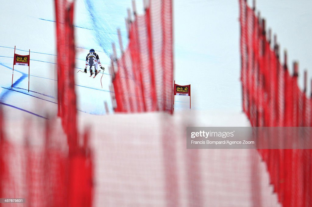 Max franz of Austria competes during the Audi FIS Alpine Ski World Cup Men's Downhill Training on December 18 2013 in Val Gardena Italy