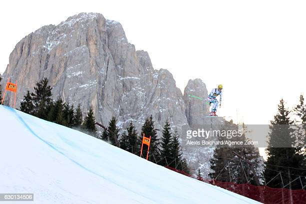 Max Franz of Austria competes during the Audi FIS Alpine Ski World Cup Men's Downhill on December 17 2016 in Val Gardena Italy