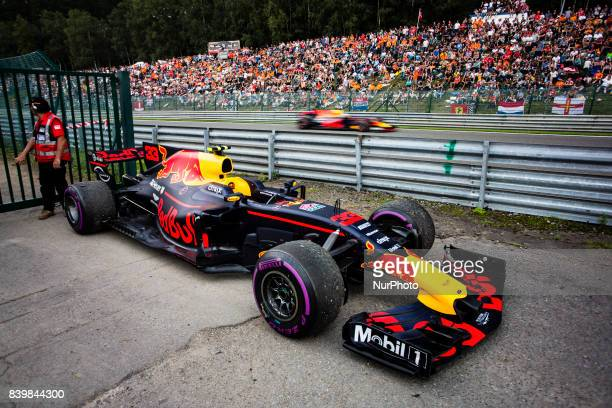 Max from Nederlans of Red Bull Tag Heuer out while 03 RICCIARDO Daniel from Australia of Red Bull Tag Heuer passes trought the straight during the...