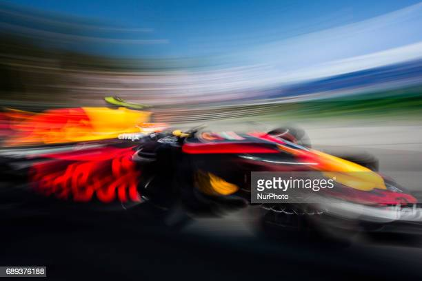 Max from Netherland of Red Bull Tag Heuer RB13 during the Monaco Grand Prix of the FIA Formula 1 championship at Monaco on 28th of 2017