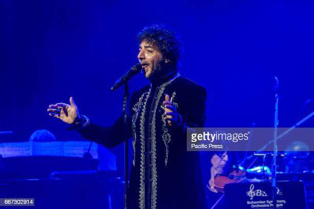 Max Gazzè Italian singer songwriter during his last concert in Teatro San Carlo of Naples His last tour called 'Alchemaya' was written by Max Gazzè...