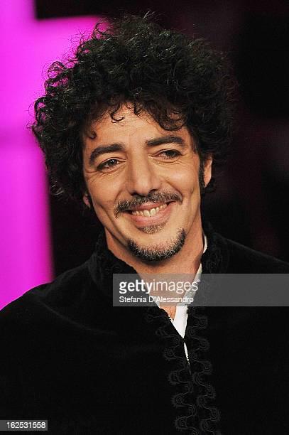 Max Gazze performs at 'Che Tempo Che Fa' Italian TV Show on February 24 2013 in Milan Italy