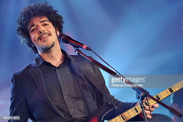 Max Gazze performs at RadioItaliaLive Tv Show on March 19 2013 in Milan Italy