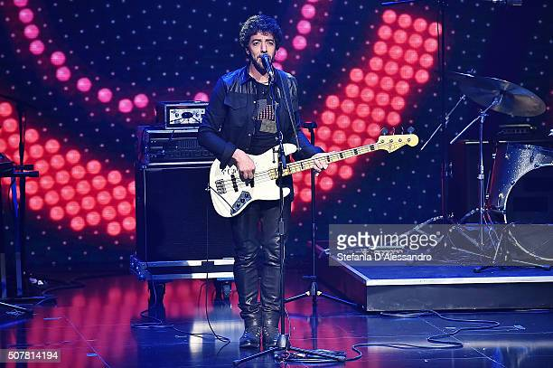 Max Gazze performs live at 'Che Tempo Che Fa' Tv Show on January 31 2016 in Milan Italy