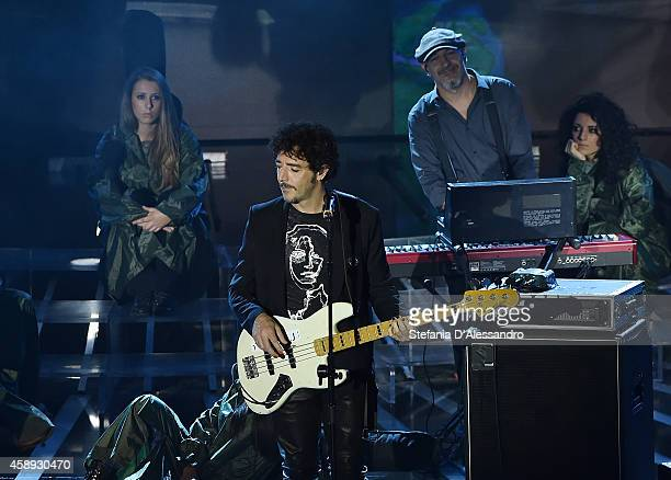 Max Gazze performs live at 'X Factor TV Show ' on November 13 2014 in Milan Italy