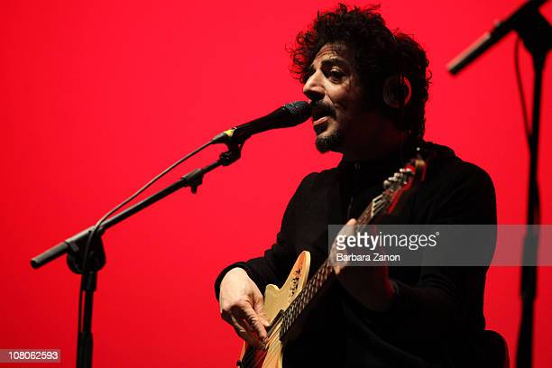 Max Gazze performs on stage in Toniolo Theatre on January 15 2011 in Mestre Italy