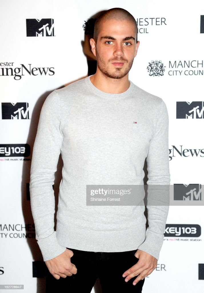 <a gi-track='captionPersonalityLinkClicked' href=/galleries/search?phrase=Max+George&family=editorial&specificpeople=7039808 ng-click='$event.stopPropagation()'>Max George</a> of The Wanted arrives to watch Alicia Keys performing as part of MTV Crashes... at Manchester Cathedral on September 24, 2012 in Manchester, England.