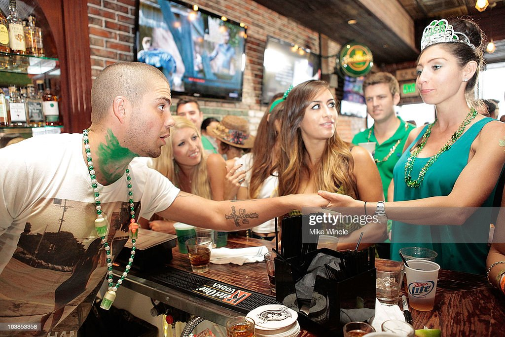 Max George of The Wanted attends Rock & Reilly's Irish Rock Pub hosts 2nd annual St. Paddy's block party on Sunset Strip on March 16, 2013 in West Hollywood, California.