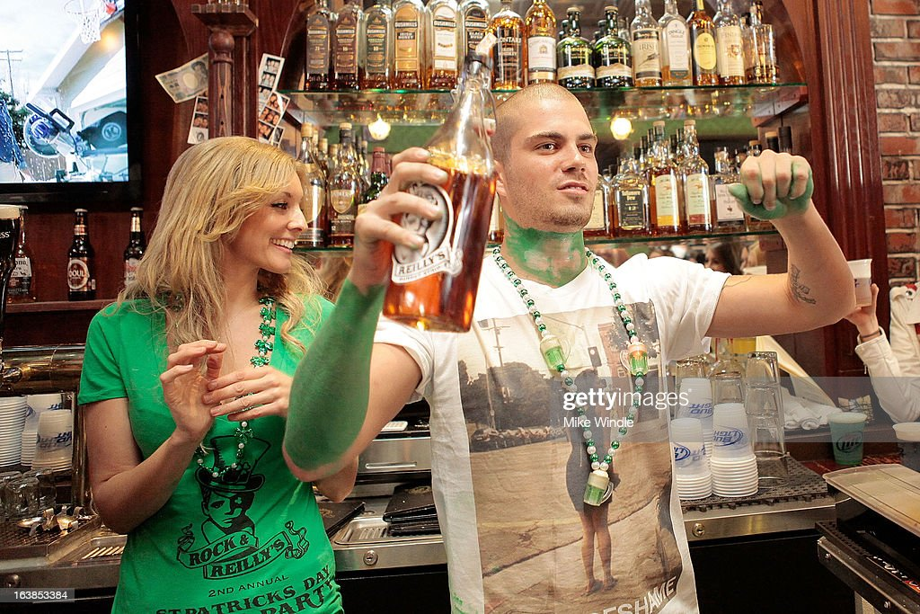 <a gi-track='captionPersonalityLinkClicked' href=/galleries/search?phrase=Max+George&family=editorial&specificpeople=7039808 ng-click='$event.stopPropagation()'>Max George</a> of The Wanted attends Rock & Reilly's Irish Rock Pub hosts 2nd annual St. Paddy's block party on Sunset Strip on March 16, 2013 in West Hollywood, California.