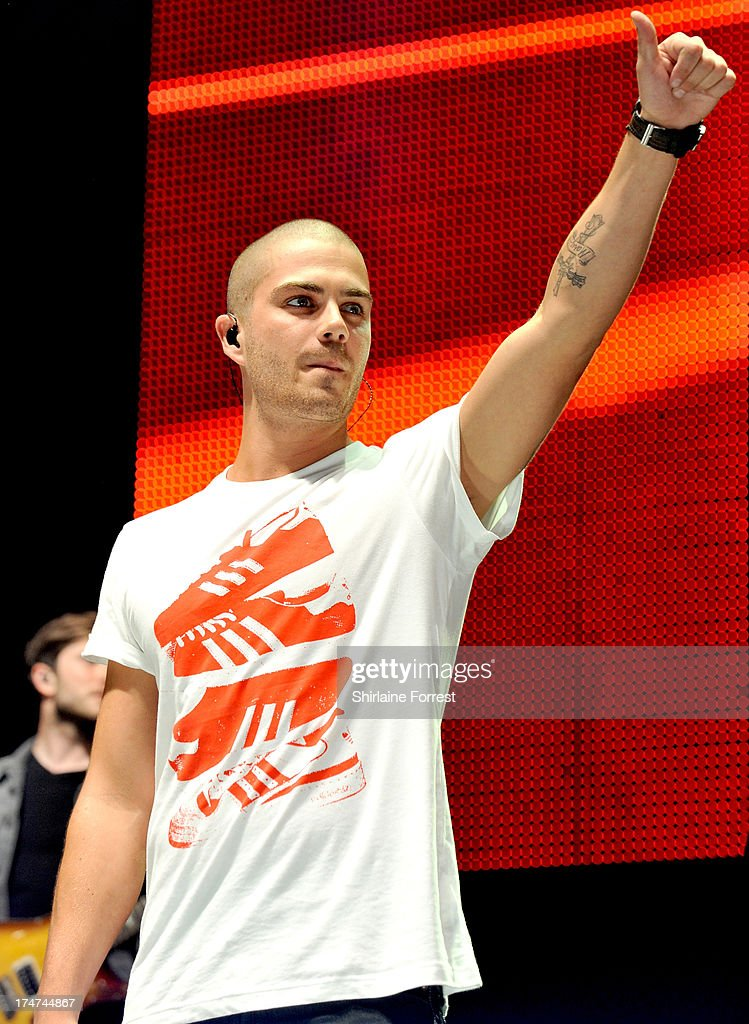 Max George of The Wanted performs at Key 103 Live at Manchester Arena on July 28, 2013 in Manchester, England.