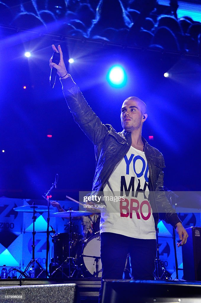 Max George of The Wanted performs onstage during Z100's Jingle Ball 2012 presented by Aeropostale at Madison Square Garden on December 7, 2012 in New York City.