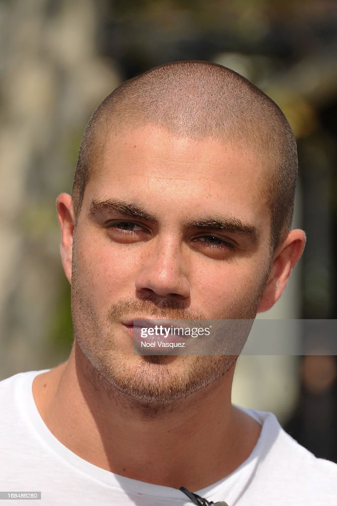 <a gi-track='captionPersonalityLinkClicked' href=/galleries/search?phrase=Max+George&family=editorial&specificpeople=7039808 ng-click='$event.stopPropagation()'>Max George</a> of The Wanted visits 'Extra' at The Grove on May 9, 2013 in Los Angeles, California.