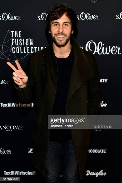 Max Giesinger attends the sOliver THE FUSION COLLECTION Fashion Show at Festhalle on March 25 2017 in Frankfurt am Main Germany