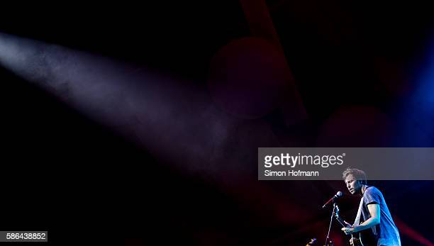 Max Giesinger performs during Music at Park Festival at Europapark on August 6 2016 in Rust Germany