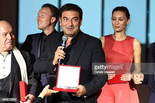 COVERAGE] Max Giusti is awarded during the Telethon Gala during the 10th Rome Film Fest on October 21 2015 in Rome Italy