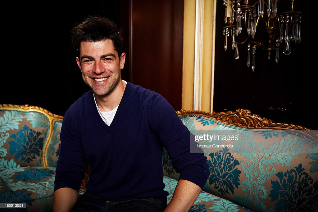 <a gi-track='captionPersonalityLinkClicked' href=/galleries/search?phrase=Max+Greenfield&family=editorial&specificpeople=599135 ng-click='$event.stopPropagation()'>Max Greenfield</a> visits the WireImage portrait studio at the Tribeca Film Festival Films 'About Alex,' 'Gabriel,' & 'Match' Tribeca Press Day At The Carlton Hotel Hosted With Fiji Water And Dobel Tequilaon April 18, 2014 in New York City.