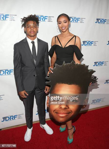 Max Harris an Bella Harris attend the JDRF LA Chapter's Imagine Gala held at The Beverly Hilton Hotel on April 22 2017 in Beverly Hills California