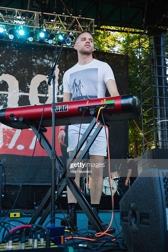 Max Hershenow of MS MR performs on stage during Summer Camp hosted by 107.7 The End at Marymoor Park on August 10, 2013 in Seattle, Washington.