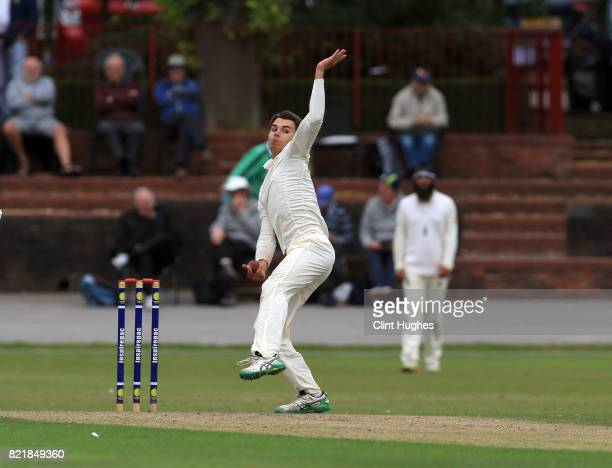 Max Holden of England during the England U19 v India U19 match at Queen's Park Cricket Club on July 23 2017 in Chesterfield England